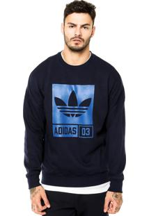 894af0b0eff64 Moletom Adidas Originals Street Grp Crew Azul