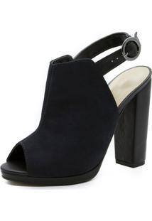 Sandália Shoes Inbox Open Back Boot - Feminino-Preto