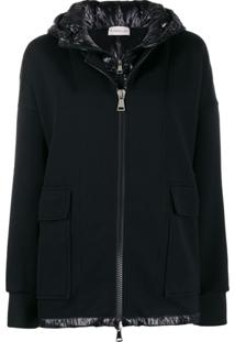 Moncler Double-Layered Zipped Jacket - Preto