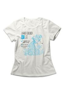 Camiseta Feminina Signo Aquário Off-White