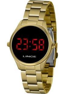 Relógio Lince Digital Led Feminino - Feminino-Dourado