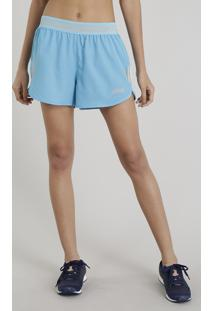 5deb5363290a1 Short Feminino Running Esportivo Ace Com Bolso Azul