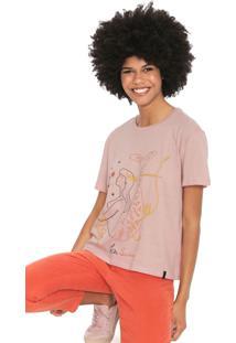 Camiseta Cantão Sirene Rosa