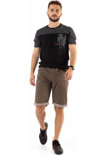 Camiseta Dioxes Estampada Preto