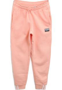 Calça De Moletom Adidas Originals Menino Logo Coral