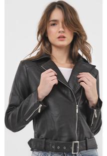 Jaqueta Polo Wear Resinada Preta