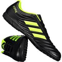 Home Vestuário Esportivo Chuteiras Flexivel Impermeavel. Chuteira Adidas  Copa 19.4 Tf Society Preta 19f26007ffd80