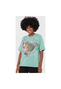 Camiseta Colcci Animal Verde