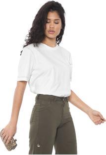 Camiseta Colcci Pespontos Off-White