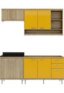 Cozinha Compacta Quilmes 7 Pt 3 Gv Argila E Amarelo