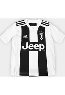Camisa Juventus Infantil Home 2018 S/N° - Torcedor Adidas - Masculino