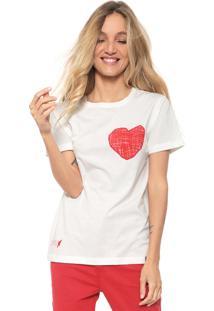 Camiseta Cantão Bordada Off-White