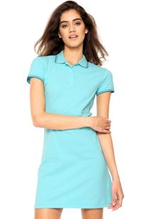 Vestido Polo Ellus 2Nd Floor Curto Comfort Azul