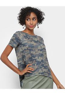 Camiseta My Favorite Thing Mullet Tigre Feminina - Feminino-Verde Militar