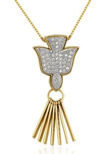 Colar Le Diamond Espirito Dourado - Dourado - Feminino - Dafiti