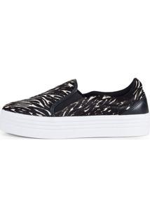 Sneaker Balaia Mod144 Em Couro Zebra
