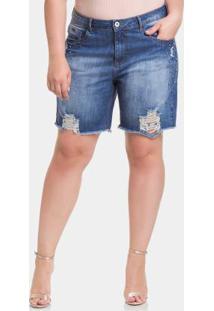 679505ce9 Shorts Jeans Médio Lunender Mais Mulher
