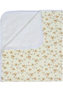Manta Compose- Amarelo Claro & Branco- 80X90Cmpapi