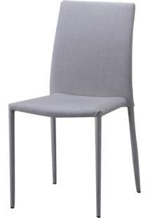 Cadeira Indonesia Estofada Tecido Sintetico Bege - 30745 Sun House