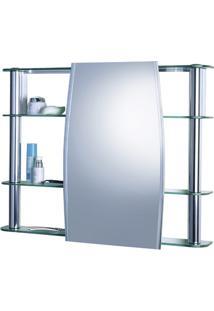 Armário Para Banheiro De Sobrepor Com Espelho Slip 62X64Cm Cromado