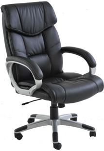 Cadeira De Escritório Home Office Ceuta Giratória Pu Preta - Gran Belo
