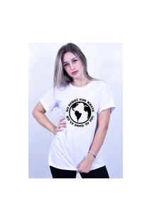 Camiseta Corte A Fio Bilhan Sorry For Whats Gde Branca