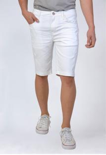 Bermuda Jeans Slim Branca Yck'S - Kanui
