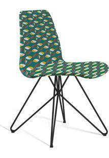 Cadeira De Jantar Eames Butterfly Preto E Verde