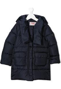 Il Gufo Zipped Padded Jacket - Azul