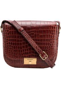 cdba1b103 Saint Laurent Bolsa Tiracolo Com Textura - Vermelho