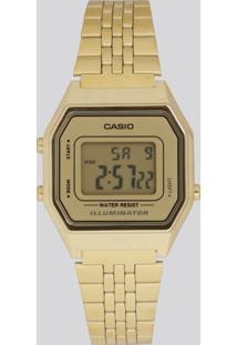 Relógio Digital Casio Feminino - La680Wga9Df Dourado - Único