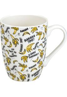 Caneca Banana Time- Amarela & Preta- 330Mlbon Gourmet