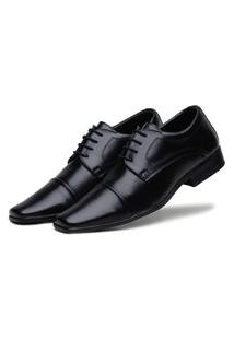 Sapato Social Bico Fino Bertelli Comfort Preto
