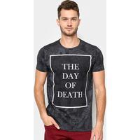 c51ef477c1ba6 Camiseta Sideway Estampada Caveiras Manga Curta Masculina - Masculino