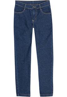Calça Jeans Juvenil Hering Masculina - Masculino-Azul