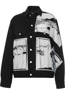 Jaqueta Sarja Calvin Klein Jeans Andy Warhol Preta