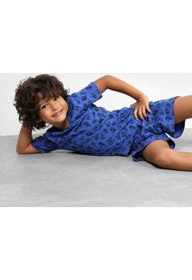 Pijama Infantil Zeep! Curto Estampado Masculino - Masculino