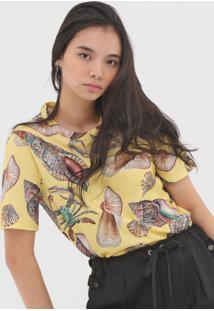 Camiseta Colcci Conchas Amarela - Amarelo - Feminino - Algodã£O - Dafiti