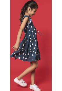 Vestido Infantil Menina Em Tecido De Viscose Rodado Hering Kids