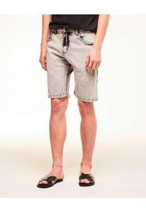 Bermuda Jeans Willie Spirito Santo Masculina - Masculino-Cinza