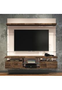 Painel Para Tv 55 Polegadas Livin Off White E Deck 160 Cm