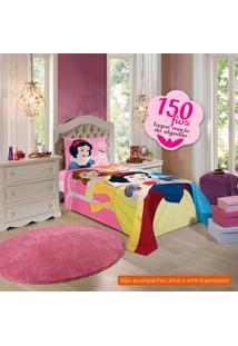 Jogo De Cama Infantil Com 3 Peças Princesas Algodão Rosa