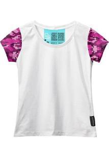 Camiseta Baby Look Feminina Algodão Estampa Militar Estilo - Feminino