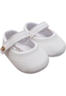 Sapato Bebê Klin Feminino - Feminino-Branco