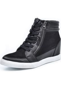 Tênis Sneaker Scarpan Calçados Finos Couro Preto