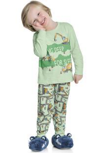 Pijama Manga Longa Verde