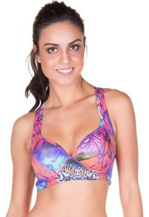 Top Fit Estruturado Print Rosa | 506.807