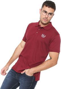 c14e04e0f8 Camisa Polo Red Nose Reta Estampada Vinho
