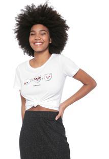 Camiseta Coca-Cola Jeans Estampada Branca