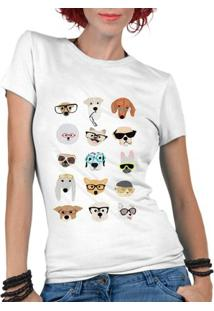 Camiseta Criativa Urbana Dog Glasses Divertidos - Feminino